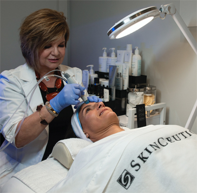 Our Medical Aesthetician provides treatment using SkinCeuticals