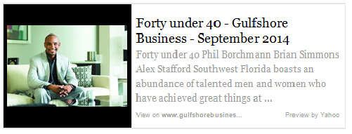 Forty under 40 - Gulfshore Business - September 2014